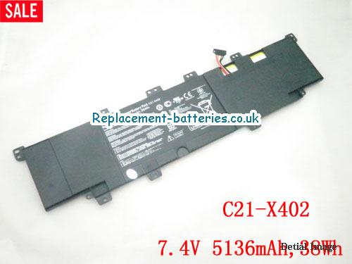 ASUS C21-X402 battery for VivoBook series, 38Wh in United Kingdom and Ireland