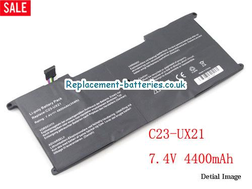 Replacement C23-UX21 Battery for ASUS Zenbook UX21 UX21E Series 35Wh in United Kingdom and Ireland
