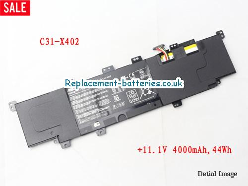 Genuine ASUS X402 C31-X402 battery for ASUS VivoBook S300 S300C S300E S300CA S400 S400C S400E S400CA 44WH in United Kingdom and Ireland