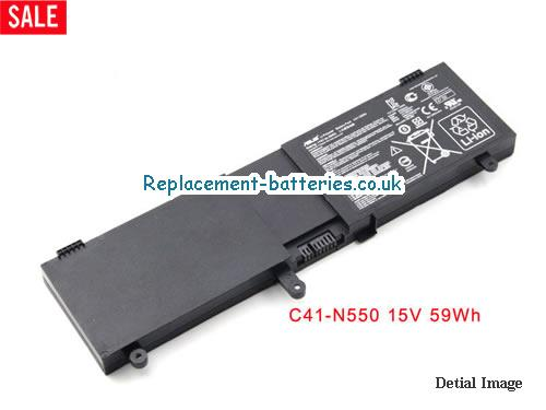 14.8V ASUS G550JK Battery 4000mAh, 59Wh
