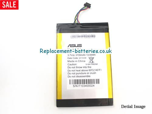 EA-800L Battery, 3.7V ASUS EA-800L Battery 3700mAh, 13.69Wh