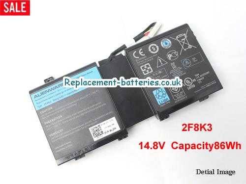 0KJ2PX Battery, 14.8V DELL 0KJ2PX Battery 86Wh