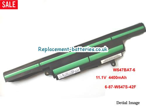 Original W547BAT-6 Battery 6-87-W547S-42F For Clevo Laptop 4400mah in United Kingdom and Ireland