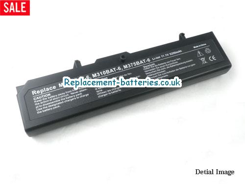 M375BAT-6 Battery, 11.1V CLEVO M375BAT-6 Battery 4400mAh