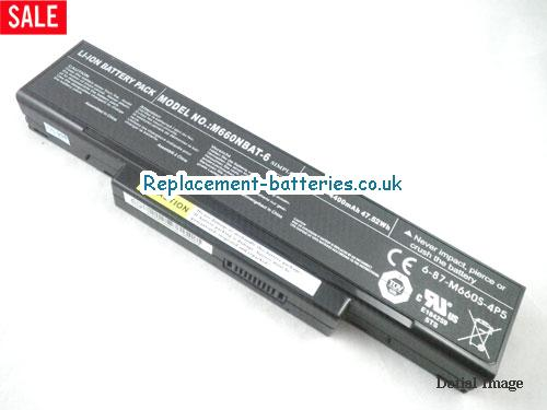 Clevo M660NBAT-6 6-87-M660S-4P4 6-87-M74JS-4W4 M660 M661 M665 Series Battery in United Kingdom and Ireland