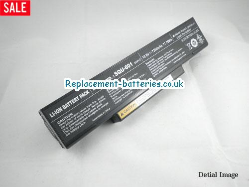 Genuine M740BAT-6 SQU-601 CBPIL44 Battery For Clevo M660 M760 M770 Series Laptop 9-Cell in United Kingdom and Ireland