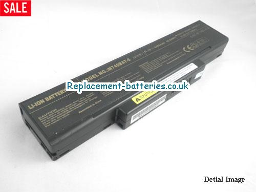 M660BAT-6 Battery, 11.1V CLEVO M660BAT-6 Battery 4400mAh