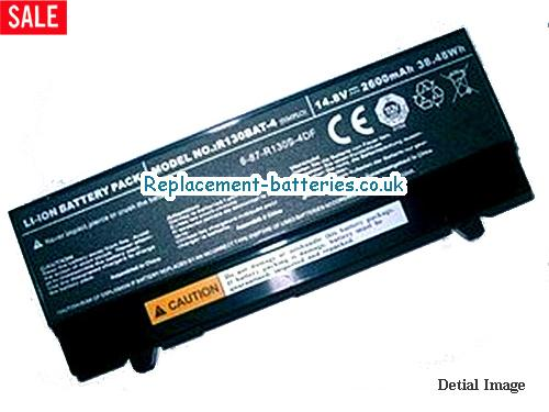 6-87-R130S-4DF2 Battery, 14.8V CLEVO 6-87-R130S-4DF2 Battery 2600mAh, 38Wh