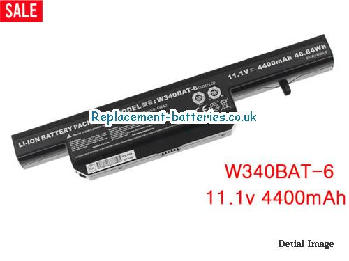 W340BAT-6 6-87-W345S-4W42 battery for CLEVO G150S laptop in United Kingdom and Ireland