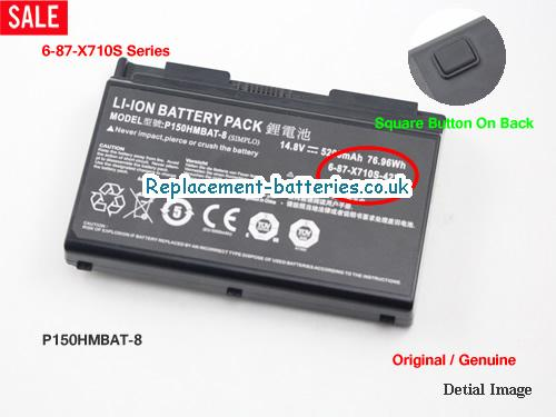 14.8V CLEVO P170HM Battery 5200mAh, 76.96Wh