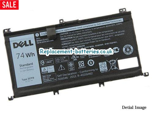 Dell 357F9 71JF4 Battery For Inspiron 15-7559 7757 7566 7567 Laptop 74wh in United Kingdom and Ireland