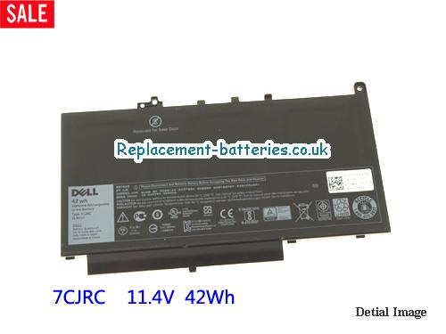 11.4V DELL LATITUDE E7470 Battery 42Wh