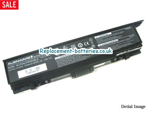 MOBL-M15X6CPRIBABLK Battery, 10.8V DELL MOBL-M15X6CPRIBABLK Battery 5200mAh
