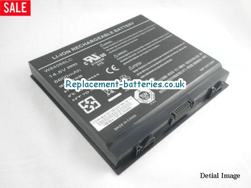 14.8V DELL ALIENWARE AURORA M9750 SERIES Battery 6600mAh