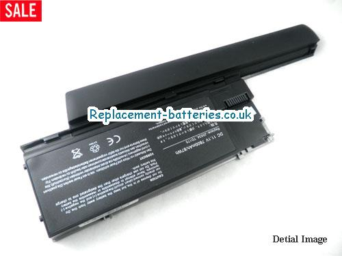 J825J Battery, 11.1V DELL J825J Battery 7800mAh