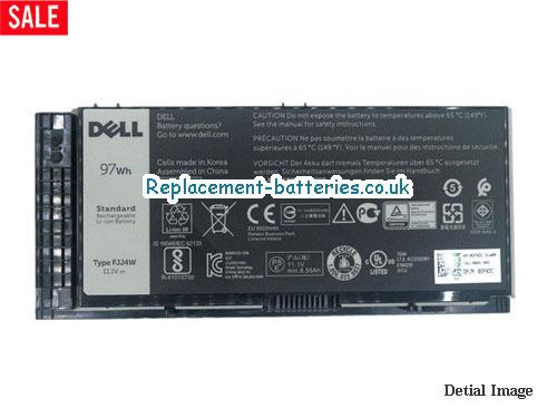 312-1178 Battery, 11.1V DELL 312-1178 Battery 8700mAh, 97Wh