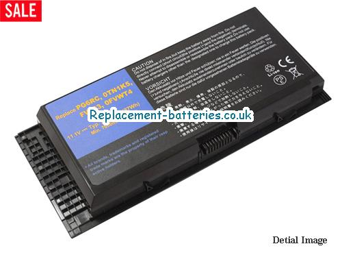 11.1V DELL PRECISION M4600 Battery 7800mAh