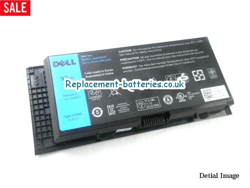 K4CP5 Battery, 11.1V DELL K4CP5 Battery 97Wh