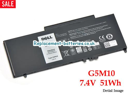 7.4V DELL LATITUDE E5550 NOTEBOOK 15.6