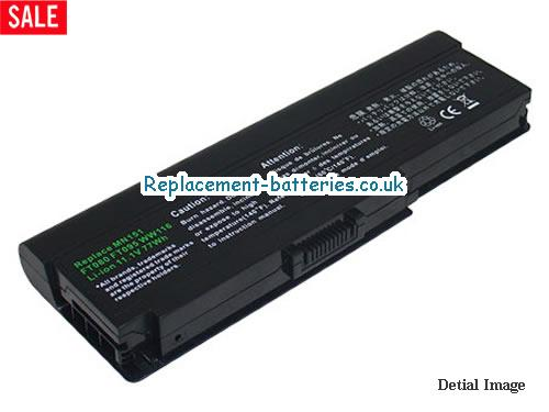FT078 Battery, 11.1V DELL FT078 Battery 6600mAh