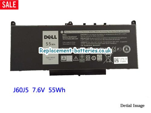 7.6V DELL LATITUDE E7470 Battery 55Wh