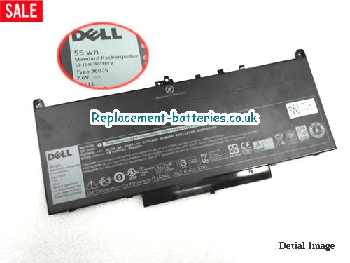 7.6V DELL LATITUDE E7470 Battery 55Wh, 7080Ah