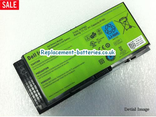 Dell R7pnd Laptop Battery 87wh 9cells In United Kingdom