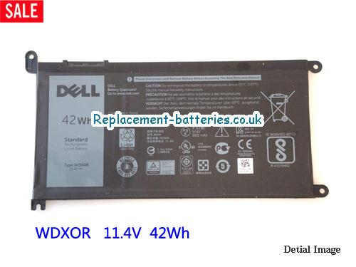 INSPIRON 15 5567 Battery, 11.4V DELL INSPIRON 15 5567 Battery 42Wh