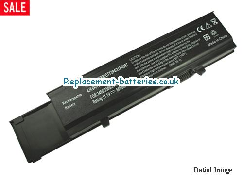 0TY3P4 Battery, 11.1V DELL 0TY3P4 Battery 6600mAh