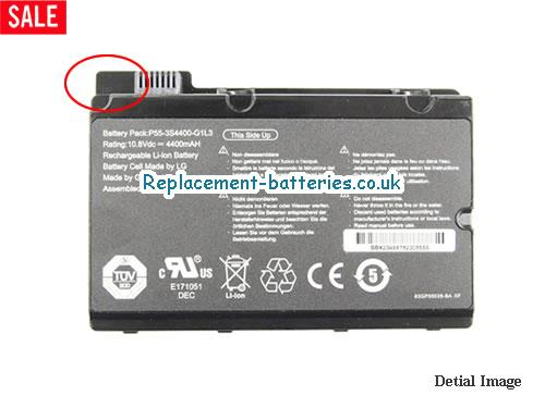 UK 4400mAh Long life laptop battery for Fujitsu P55-3S4400-S1S5, P55-3S4400-G1L3, P55-3S4400-C1S5, Amilo Pi2530,