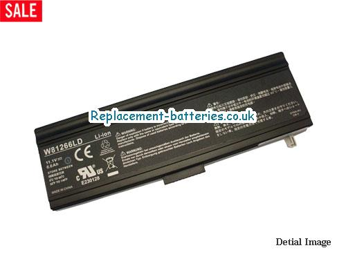11.1V GATEWAY XXODD XNI812DI SERIES Battery 6600mAh