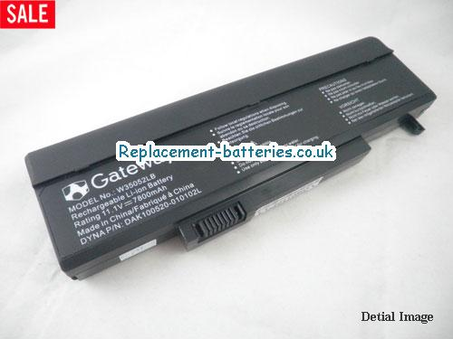 11.1V GATEWAY P-6312 Battery 7800mAh, 81Wh