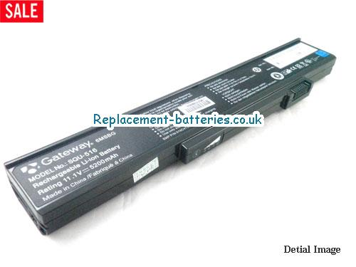 6MSB Battery, 11.1V GATEWAY 6MSB Battery 5200mAh