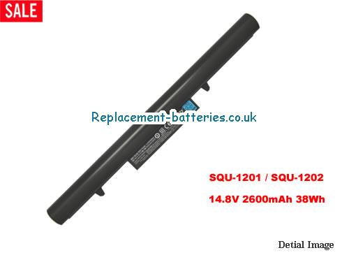 Hasee SQU-1201 Battery, 2600mah, 14.8V, 38Wh for Hasee Q480S-i5 D1 in United Kingdom and Ireland