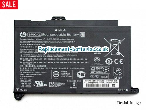 Genuine HP BP02XL Battery For Pavilion 15 series Laptop 41wh in United Kingdom and Ireland