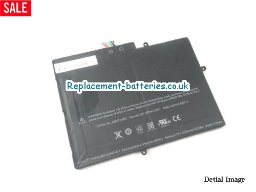 HP 635574-002,649650-001,HSTNH-I29C laptop battery,3.7V 6000mah 22.2wh in United Kingdom and Ireland