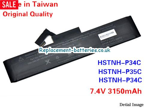 HSTNN-P36C Battery, 7.4V HP HSTNN-P36C Battery 3150mAh