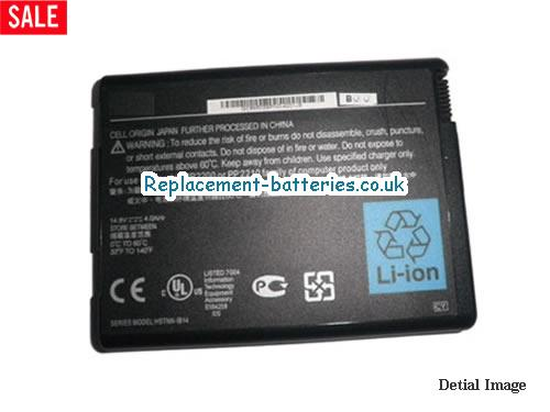 14.8V HP PAVILION ZD8075EA Battery 6600mAh