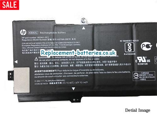 KB06XL Battery For HP SPECTRE X360 SERIES 902499-855 HSTNN-DB7R in United Kingdom and Ireland