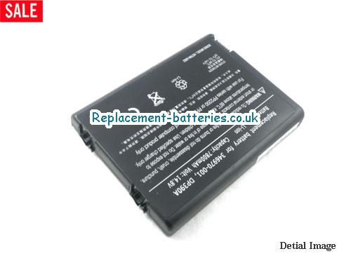 14.8V HP PAVILION ZV5380EA Battery 6600mAh