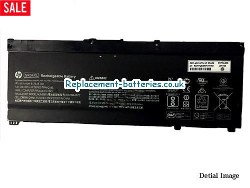 Genuine Hp SR04XL Laptop Battery HSTNN-IB7Z For OMEN SERIES in United Kingdom and Ireland