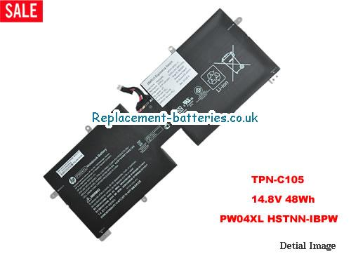 HSTNN-IBPW Battery, 14.8V HP HSTNN-IBPW Battery 48Wh
