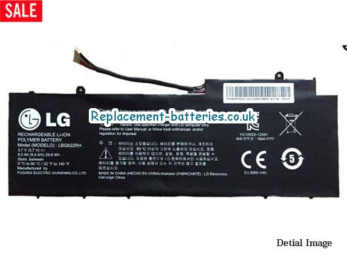 30Wh Genuine LBG622RH Battery For LG XNOTE series in United Kingdom and Ireland