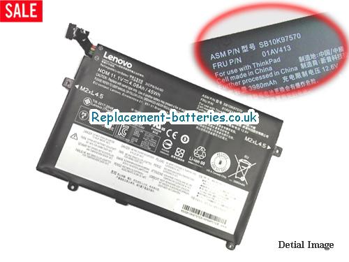 01AV411 Battery, 11.1V LENOVO 01AV411 Battery 3880mAh, 45Wh , 4.05Ah