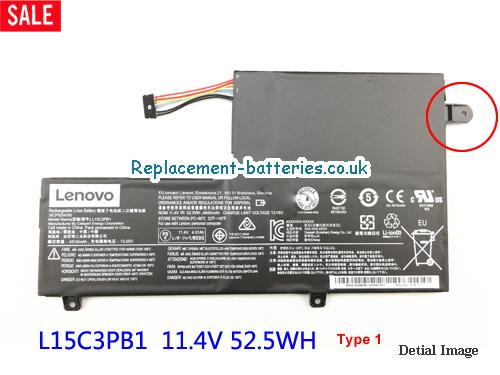 Lenovo L15C3PB1 Rechargeable Li-ion battery 52.5Wh in United Kingdom and Ireland