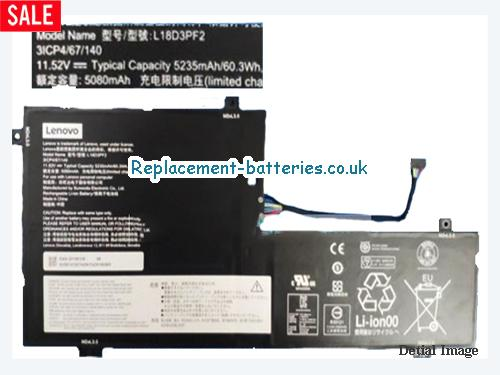 Genuine Lenovo L18D3PF2 Battery Li-Polymer 3ICP4/67/140 11.52v 5235mah in United Kingdom and Ireland