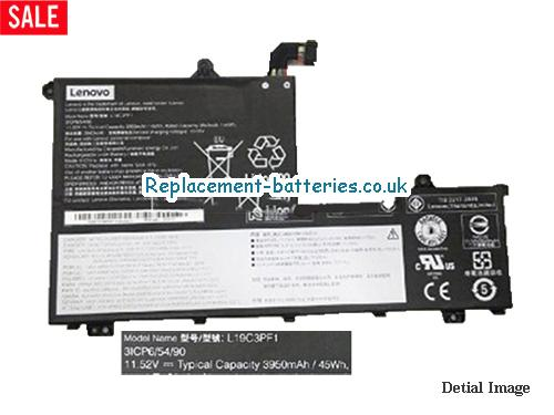 Genuine Lenovo L19C3PF1 Battery SB10V25242 Rechargeable 11.52V 45Wh in United Kingdom and Ireland