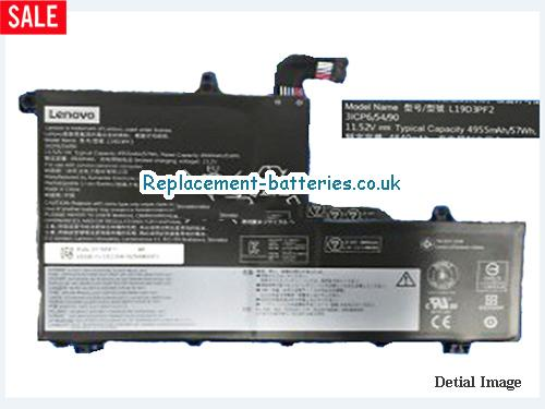 Genuine Lenovo L19D3PF2 Battery Li-Polymer Rechargeable 11.52v 57Wh in United Kingdom and Ireland