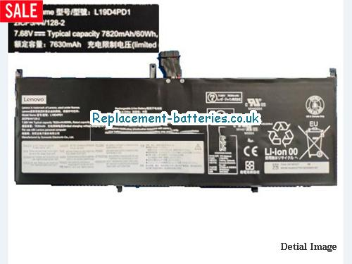 Genuine Lenovo L19D4PD1 Battery 2ICP5/44/128-2 Li-Polymer Rechargerable 60Wh  in United Kingdom and Ireland