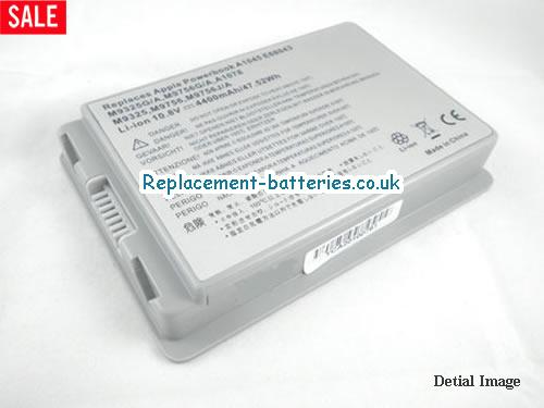 10.8V APPLE POWERBOOK G4 15 M9676LL/A Battery 5200mAh